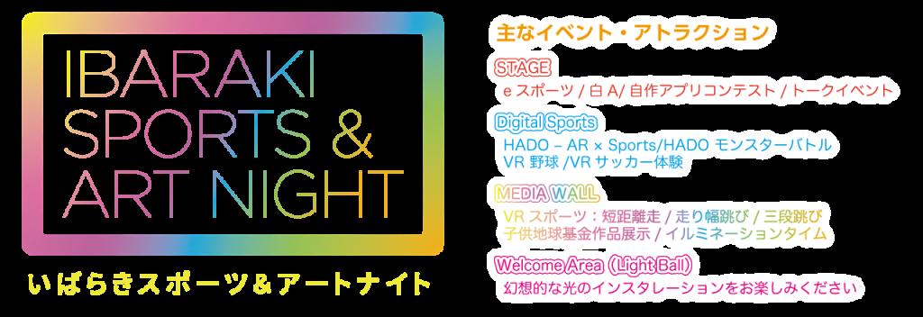 【いばらきスポーツ&アートナイト】会場案内図